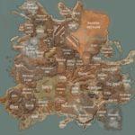 Карта Kenshi с локациями