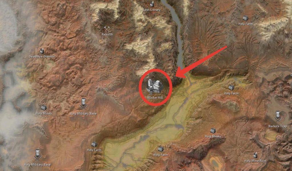 Местонахождение Святого Лорда Феникса - Бугристый Холм