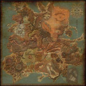 Карта мира с переводом