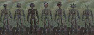 Скелеты из концепт артов XT-MKIII & XT-MKIV